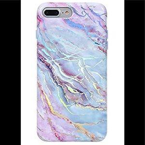 NWT Velvet Caviar marble holographic phone case